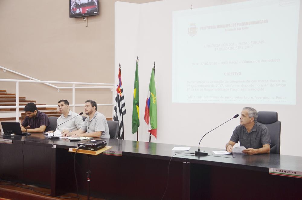 Administração Municipal apresenta números e dados financeiros do 3º Quadrimestre de 2017 e conclui a prestação de contas do Executivo