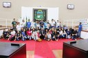 Alunos da Escola Profª Escolástica Antunes Salgado realizaram visita monitorada na Câmara de Vereadores