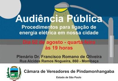 Após inúmeras reclamações, Câmara vai realizar Audiência Pública para debater procedimentos para ligação de energia elétrica em Pindamonhangaba