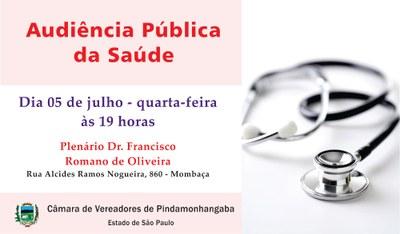 Audiência Pública debate questões da Saúde em Pindamonhangaba