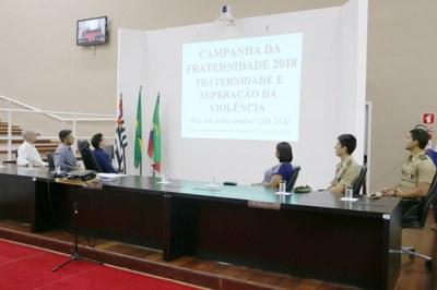 """Com tema """"Superação da violência"""", Câmara promove, em ato solene, o lançamento oficial da Campanha da Fraternidade em Pindamonhangaba"""