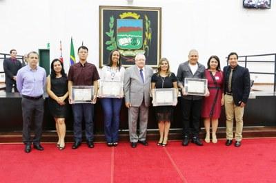 Em sessão solene, Comerciários recebem o reconhecimento e a gratidão da Câmara de Pindamonhangaba