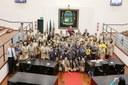 Moral e educação foram temas enaltecidos em homenagem ao Dia do Escoteiro na Câmara de Pindamonhangaba