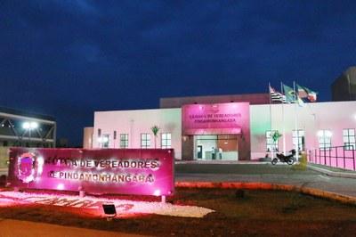 """Sessão Solene marca participação da Câmara de Pindamonhangaba na Campanha de Prevenção ao Câncer de Mama """"Em Outubro Pense Rosa"""""""